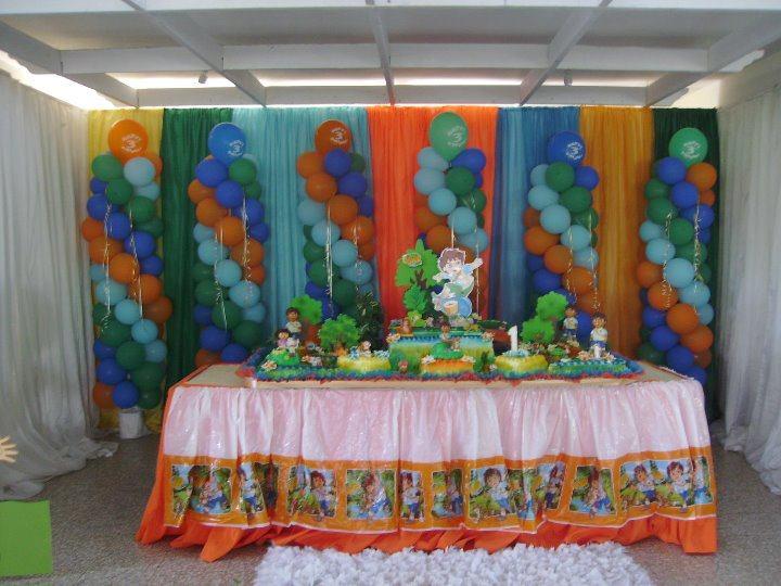 13 mesa bizcocho cumplea os dora festejos - Bizcochos para cumpleanos ...