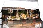 Decoracion buffet en boda blanco y rosado