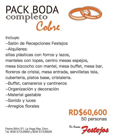 COMBO PACK FESTEJOS cobre web